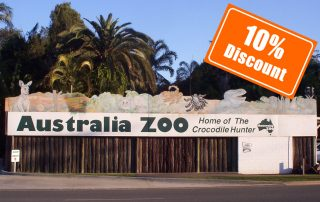ten percent discount to Australia Zoo